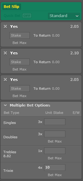 Treble bet on 4 teams betting advice asianconnectioncatfightsclips