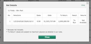 longshot bet odds