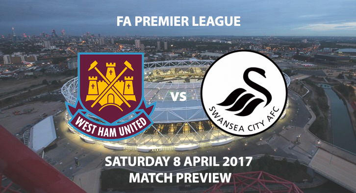West Ham v Swansea Match Preview - Saturday 8th April 2017 3PM - FA Premier League, Olympic Stadium, London