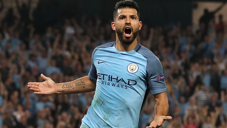 Sergio Aguero will face a late fitness test before the game