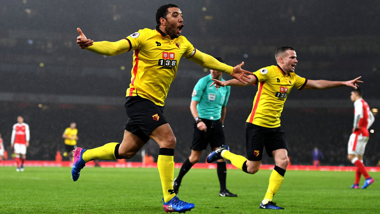 Troy Deeney will hope to secure a win to ensure safety in the Premier League next season