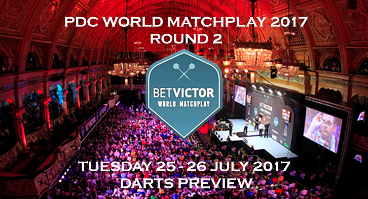 PDC World Matchplay 2017 - 2nd Round - Darts Preview