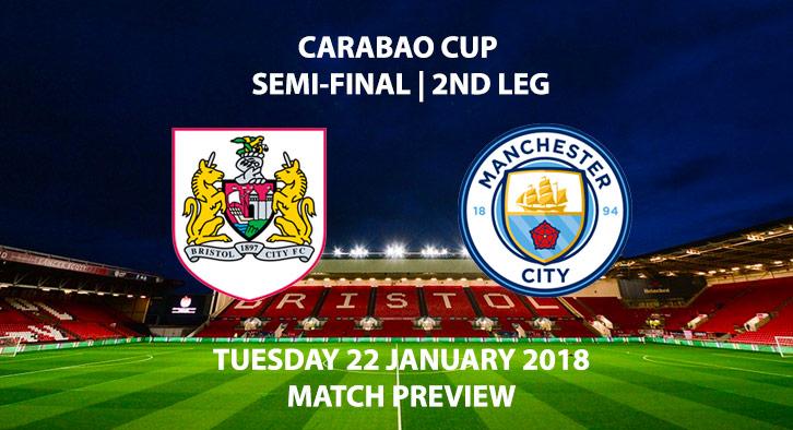 Bristol City vs. Manchester City - Carabao Cup - 2nd Leg - 22 January 2018