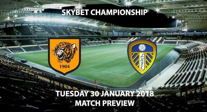 Hull vs Leeds United, Sky Bet Championship, Tuesday 30th January 2018, 7:45PM KCOM Stadium