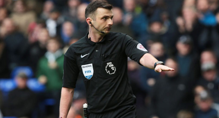 Michael Oliver will be the referee for the second leg between Arsenal and Chelsea