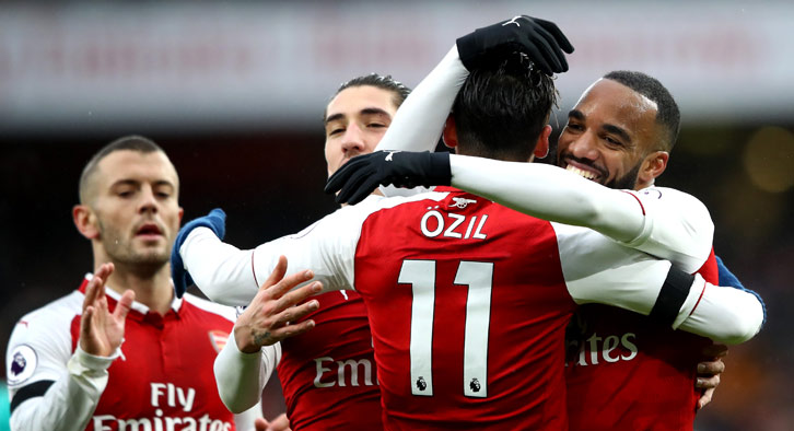 Ozil was back in the goals on the weekend as he got one of Arsenal's four goals vs. Crystal Palace