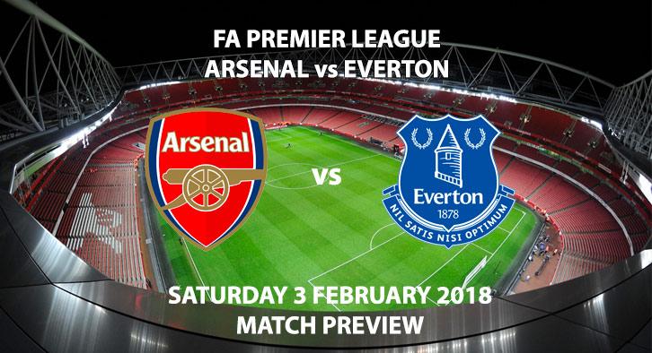 Arsenal vs Everton, Emirates Stadium, Saturday 3 February 2018. Kick off 5:30PM GMT.