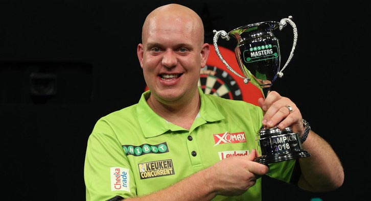 Michael Van Gerwen will be looking to retain his crown from 2017 starting with a tough opening night challenge against Rob Cross. Photo Credit: Sky Sports