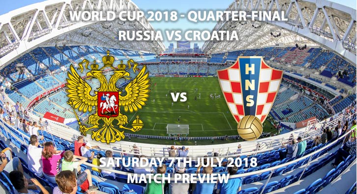Russia vs Croatia - Match Betting Preview. Saturday 7th July 2018, FIFA World Cup 2018, Quarter-finals, Fisht Stadium, Sochi. Live on ITV 1 – Kick-Off: 19:00 GMT.