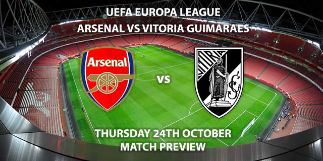 Arsenal vs Vitoria Guimaraes - Thursday 24th October 2019, FA Premier League, Emirates Stadium. Live on BT Sport 2 – Kick-Off: 20:05 BST.