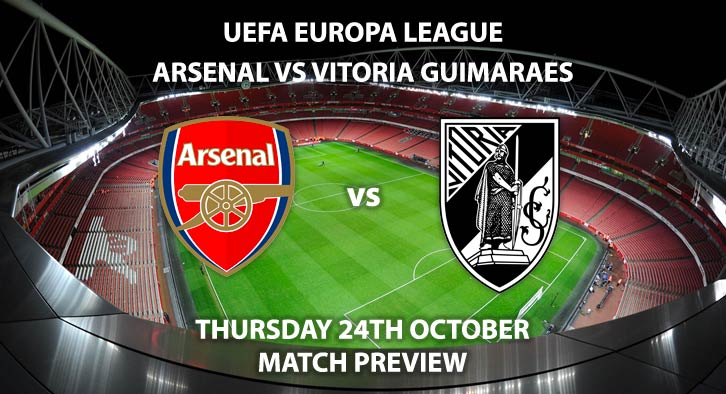 Arsenal vs Vitoria Guimaraes - Thursday 24th October 2019, FA Premier League, Emirates Stadium. Live on BT Sport 2 – Kick-Off: 20:05 BST.