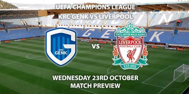 KRC Genk vs Liverpool - Wednesdsy 23rd October 2019, UEFA Champions League. Liminus Arena. Live on BT Sport 2 – Kick-Off: 20:00 BST.