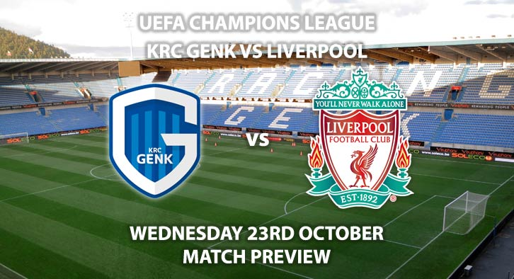 KRC Genk vs Liverpool - Wednesdsy 23rd October 2019, UEFA Champions League. Liminus Arena. Live on BT Sport 2 – Kick-Off: 20:00 BST.